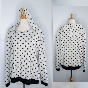 Le Lis | polkadot hoodie | large